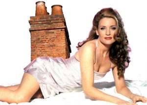 Gina G with a chimney on her